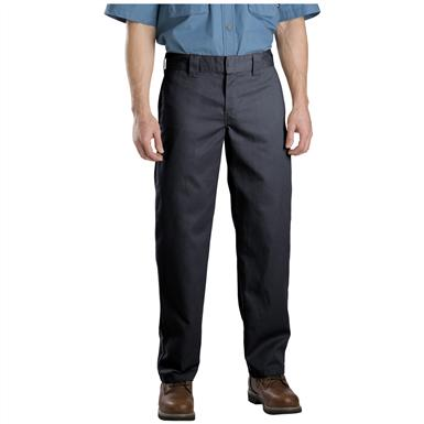 Men's Dickies® Slim Straight Fit Work Pants, Black - Front