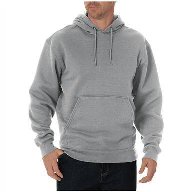 Dickies Men's Midweight Fleece Pullover Hoodie, Heather Gray