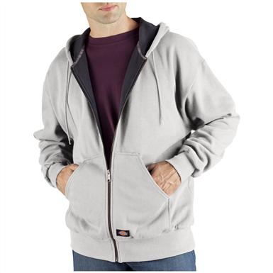 Dickies® Thermal-lined Hooded Fleece Work Jacket, Ash Gray