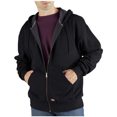 Dickies® Thermal-lined Hooded Fleece Work Jacket, Black