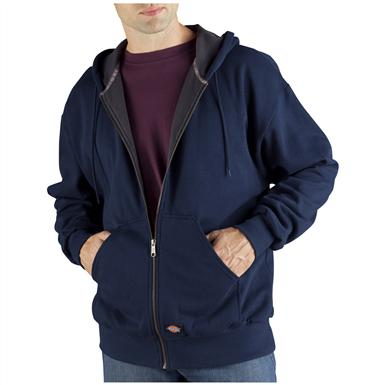 Dickies® Thermal-lined Hooded Fleece Work Jacket, Dark Navy