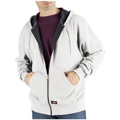 Dickies® Thermal-lined Hooded Fleece Work Jacket, White