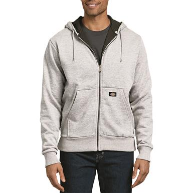 Dickies Men's Thermal Lined Fleece Hoodie, Ash Gray