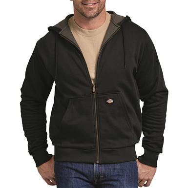 Dickies Men's Thermal Lined Fleece Hoodie, Black