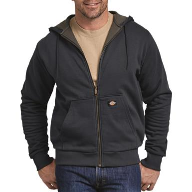 Dickies Men's Thermal Lined Fleece Hoodie, Dark Navy
