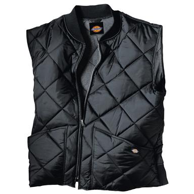 Dickies® Diamond Quilted Nylon Work Vest, Black