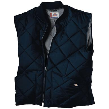 Dickies® Diamond Quilted Nylon Work Vest, Dark Navy