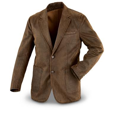 Visitor Enzyme-washed Sport Coat, Brown