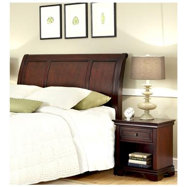 Lafayette Queen / Full Sleigh Bed Headboard and Nightstand
