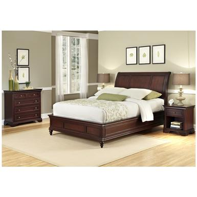Lafayette King Sleigh Bed Headboard, Nightstand and Chest
