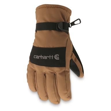 Carhartt WP Waterproof Insulated Gloves, Brown / Black