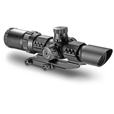 Barska SWAT-AR, 1-4x28mm, Illuminated Mil-Dot, Rifle Scope