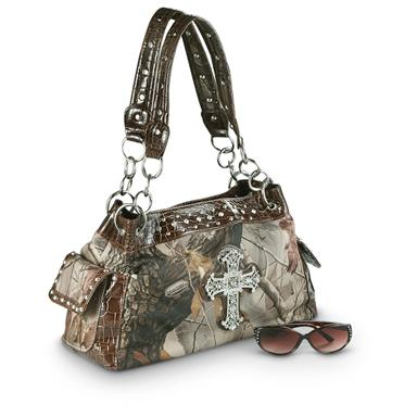 Women's Realtree® Purse with Cross Bling, Hardwoods®