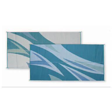 Reversible Patio Mat Green Blue Flare