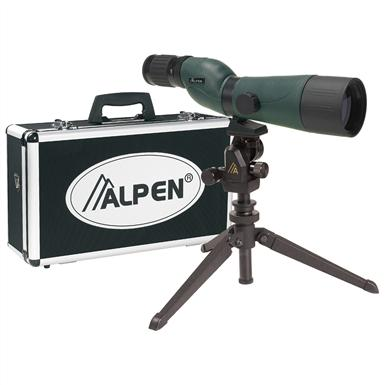 Alpen® 20-60x60mm Waterproof Spotting Scope Kit
