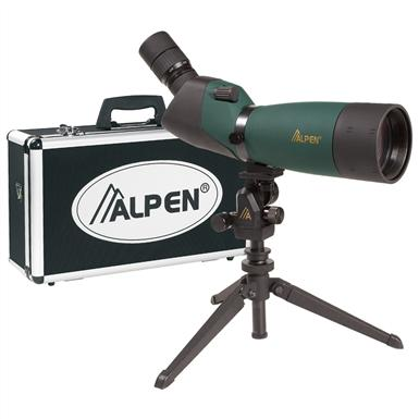 Alpen® 20-60x80mm Waterproof Angled Spotting Scope Kit with 45° Eyepiece