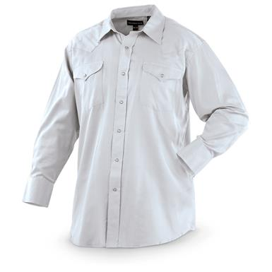 2-Pk. of Panhandle Slim® Solid Long-sleeved Western Shirts, 1 Gray