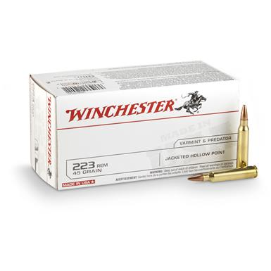 Winchester® USA .223 Rem. 45 Grain JHP 40 rounds