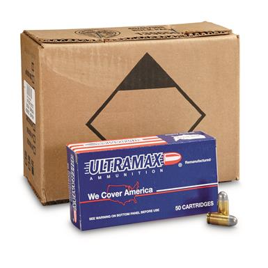 Ultramax, Remanufactured, .45 ACP, RNL, 230 Grain, 1,000 Rounds