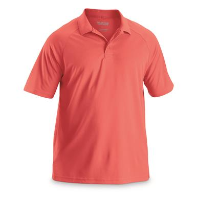 Guide Gear Men's Performance Polo Shirt, Deep Coral