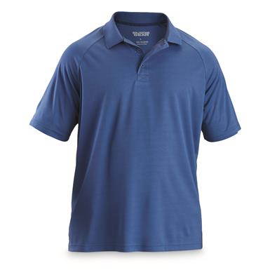 Guide Gear Men's Performance Polo Shirt, Cobalt Blue