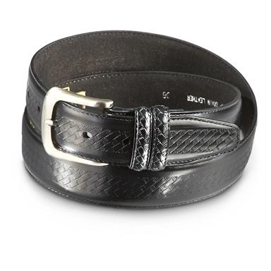 "Guide Gear Embossed Basketweave 1.5"" Belt, Black"