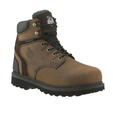 Men's Georgia Boots® 6 inch Brookville Waterproof Work Shoes, Dark Brown