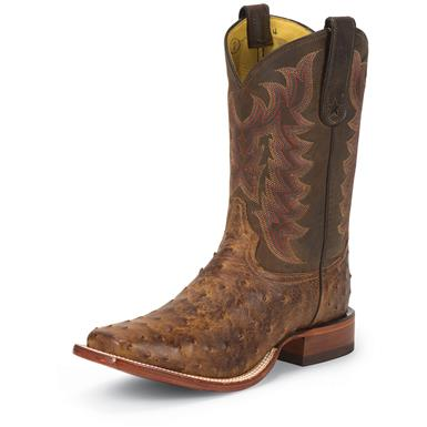 Men's Tony Lama® 11 inch Vintage Ostrich Western Boots, Chocolate