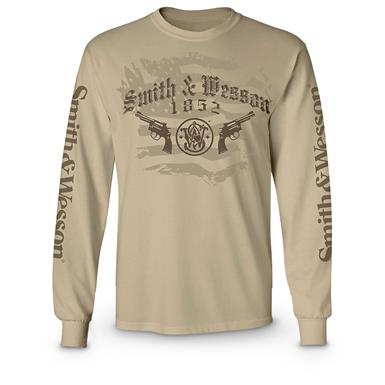 Smith & Wesson Long-sleeved T-shirt, Sand