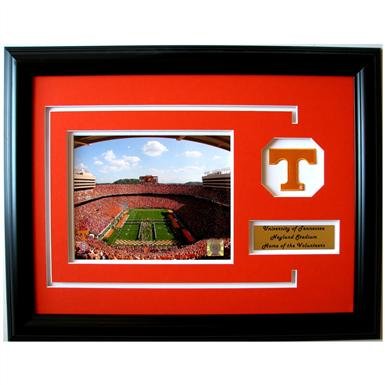 Neyland Stadium NCAA Framed Photo with Team Patch by CGI Sports Memories™