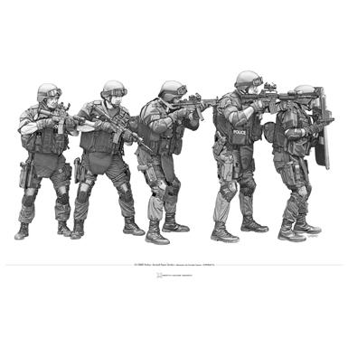 Police & SWAT #7 14x20 inch Print by Death House Design