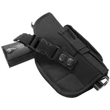 Three section pistol mag / flashlight pouch with Velcro® closures