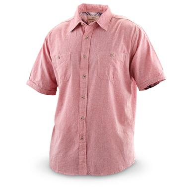 Weatherproof Vintage® Short-sleeved Chambray Shirt, Red