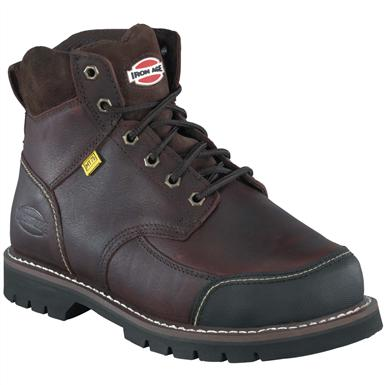 Men's Iron Age® 6 inch Dozer Steel Toe Internal Met Guard Work Boots