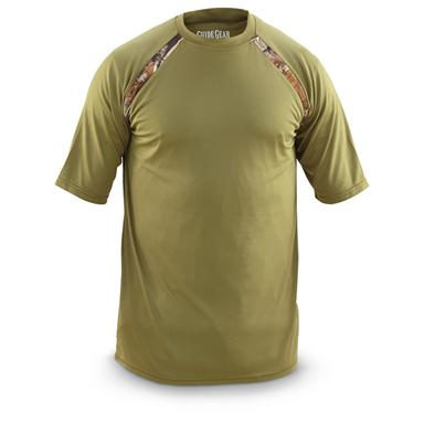 Guide Gear Men's Performance Short-Sleeve T-Shirt, 2 Pack, Olive / Realtree AP