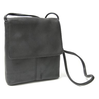 Royce Leather® Vaquetta Small Flap Over Crossbody Bag
