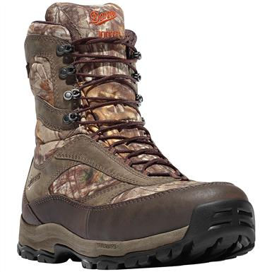 "Danner Men's 8"" High Ground Waterproof Insulated Camo Hunting Boots, 1,000 Gram"