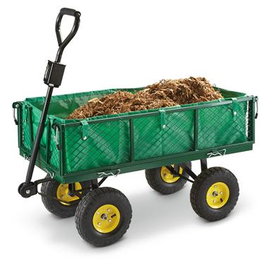 CASTLECREEK Steel Garden Cart with Liner, 700 lb. Capacity