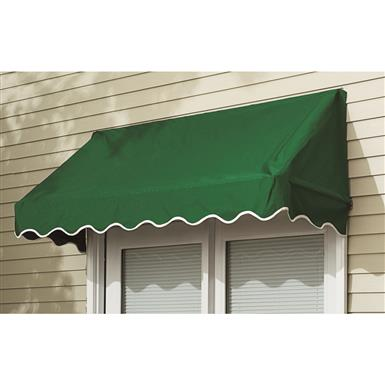 CASTLECREEK 6' Window and Door Awning, Burgundy • 6 foot Door Awning blocks the sun's rays keeping your home cool
