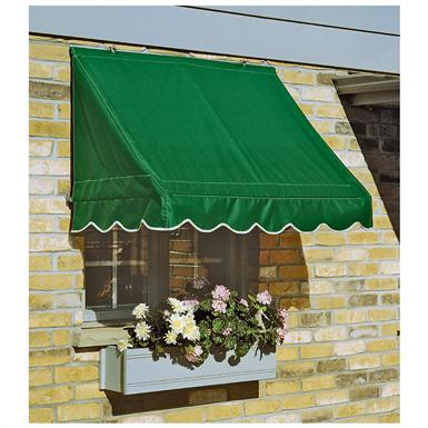 CASTLECREEK 8 foot Window and Door Awning, Hunter Green • Come in 3 widths: 4 feet, 6 feet, or 8 feet, to fit a variety of windows and doors!
