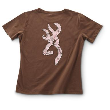 Women's Browning® Fitted Buckmark T-shirt, Chocolate
