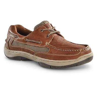 Guide Gear Men's Lace Up Boat Shoes, Tan