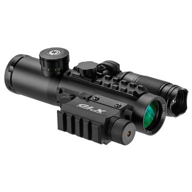 Barska® 4x30 IR Electro Sight with Green Laser and 140 Lumen Flashlight