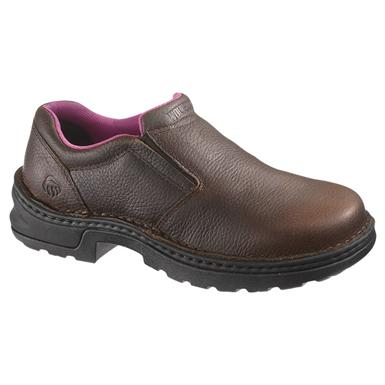 Women's Wolverine® Bailey Steel Toe Slip-on Shoes, Brown