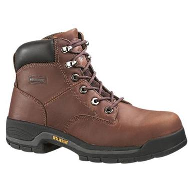 Women's Wolverine® Harrison Steel Toe Boots, Brown
