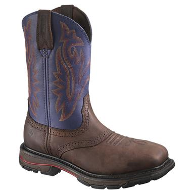 Men's Wolverine® Javelina High Plains Steel Toe Electrical Hazard Western Wellington Boots, Blue