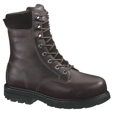 Men's Wolverine® 8 inch Cannonsburg Steel Toe EH Work Boots, Brown