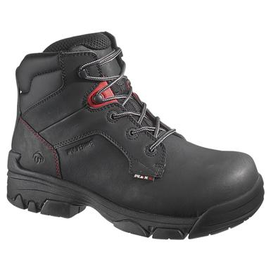 Men's Wolverine® Peak® AG 6 inch Merlin Waterproof Composite Toe EH Work Boots, Black