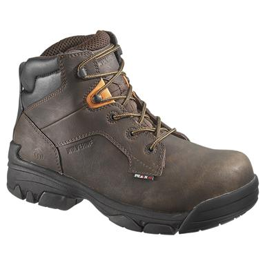 Men's Wolverine® Peak® AG 6 inch Merlin Waterproof Composite Toe EH Work Boots, Brown