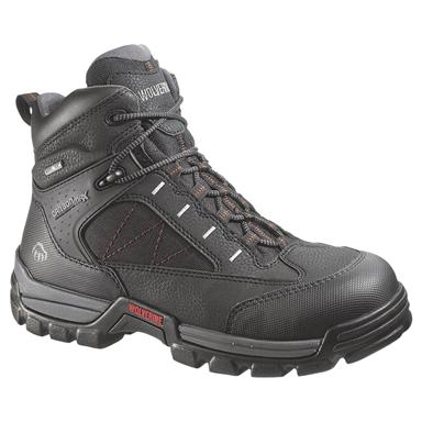Men's Wolverine® 6 inch Amphibian CarbonMAX® Safety Toe GORE-TEX® Waterproof EH Work Boots, Black